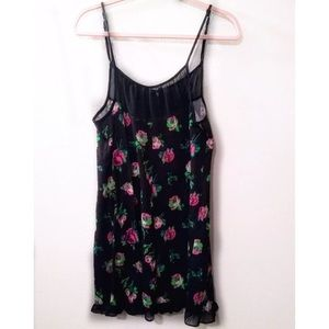 Betsey Johnson Floral Nightie Chemise Pink Roses